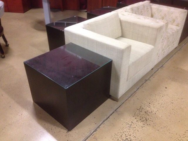 Brown U0026 Cream Leather Lounge Chairs Price : 249 Each. Color/Finish : Brown  Or Cream Size : Lounge